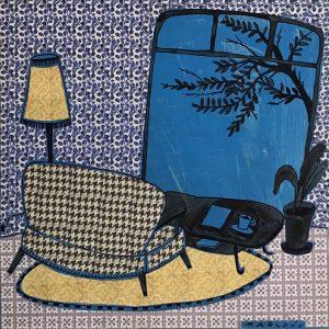 Finestral blau- Blue window- Montse Roldós